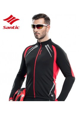 Maillot largo Santic Lext Red